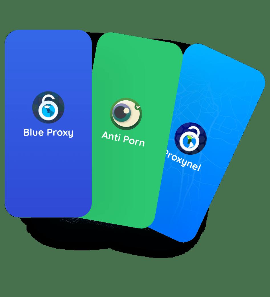 Proxynel App, Blue Proxy App, Anti Porn App